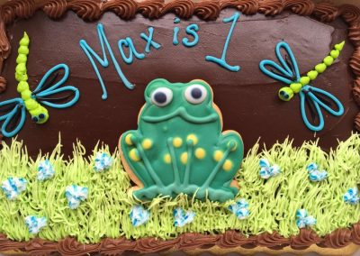 Lanes-bakery-cake-frog-dragonfly